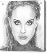 Natalie In Black Acrylic Print