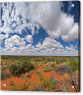 360 Of Clouds Over Desert Acrylic Print