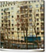360 Panoramic Photograph Of Paris Acrylic Print