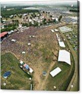 Bonnaroo Music Festival Aerial Photography Acrylic Print