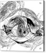Bw Sketches Acrylic Print