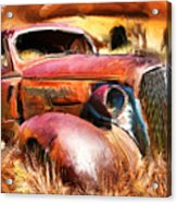 37 Chevy Acrylic Print by Tom Griffithe