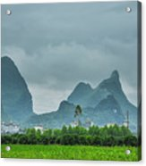 Karst Mountains Rural Scenery Acrylic Print