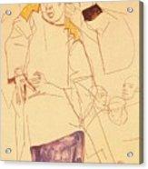 38027 Egon Schiele Acrylic Print