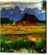 Oil Painting Landscape Pictures Acrylic Print