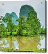 The Beautiful Karst Rural Scenery Acrylic Print