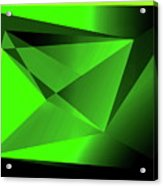 3d-greenpyramids Acrylic Print