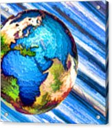 3d Render Of Planet Earth 10 Acrylic Print