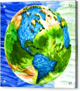3d Render Of Planet Earth 11 Acrylic Print
