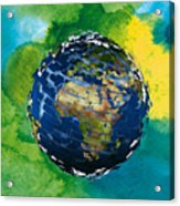3d Render Of Planet Earth 14 Acrylic Print