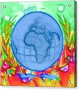 3d Render Of Planet Earth 17 Acrylic Print