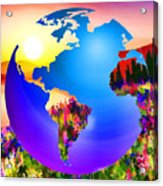 3d Render Of Planet Earth 18 Acrylic Print