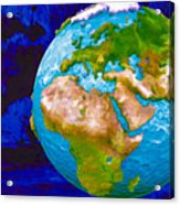 3d Render Of Planet Earth 6 Acrylic Print