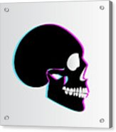 3d Skull Icon Background Side On Acrylic Print