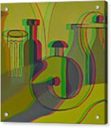 3d Stereo Cubism - Use Red-cyan 3d Glasses Acrylic Print