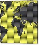 3d World Map Composition 4 Acrylic Print
