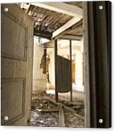 3rd Floor Door And Ruined Room Acrylic Print
