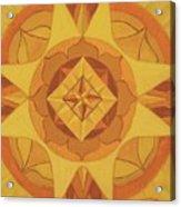3rd Mandala - Solar Plexus Chakra Acrylic Print