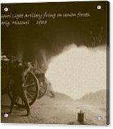 3rd Missouri Night Fire Acrylic Print