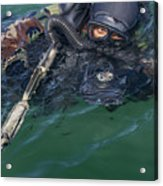 A Navy Seal Combat Swimmer Acrylic Print