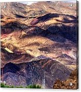 aerial view of Leh ladakh landscape Jammu and Kashmir India Acrylic Print