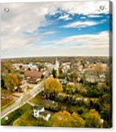 Aerial View Over White Rose City York Soth Carolina Acrylic Print