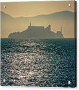 Alcatraz Island Prison San Francisco Bay At Sunset Acrylic Print