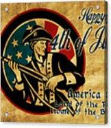American Revolution Soldier General  Acrylic Print