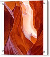Antelope Canyon Acrylic Print by Carl Amoth