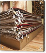 Area Rugs In A Store Acrylic Print by Jetta Productions, Inc