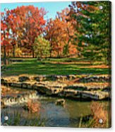 Autumn In Forest Park St Louis Missouri Acrylic Print