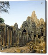 Bayon Temple Acrylic Print by MotHaiBaPhoto Prints