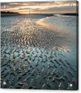 Beautiful Beach Coastal Low Tide Landscape Image At Sunrise With Acrylic Print
