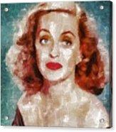 Bette Davis Vintage Hollywood Actress Acrylic Print