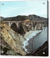 Bixby Creek Bridge Big Sur Photo By Pat Hathaway Acrylic Print