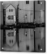 Boathouse Reflections  Acrylic Print