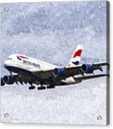 British Airways Airbus A380 Art Acrylic Print