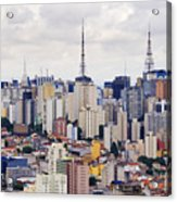 Buildings Of Downtown Sao Paulo Acrylic Print