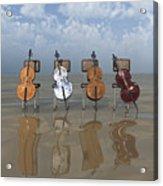 4 Cellos... - 4 Violoncelles... Acrylic Print