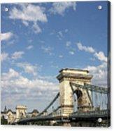 Chain Bridge On Danube River Budapest Acrylic Print