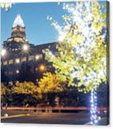 Christmas Season Decorations Around Charlotte North Carolina And Acrylic Print