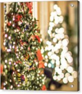 Christmas Tree And Decorations With Shallow Depth Of Field Acrylic Print