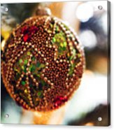 Christmas Tree Decorations Acrylic Print