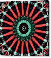 Colorful Kaleidoscope Incorporating Aspects Of Asian Architectur Acrylic Print