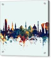 Copenhagen Denmark Skyline Acrylic Print
