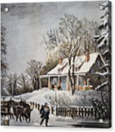 Currier & Ives: Winter Scene Acrylic Print