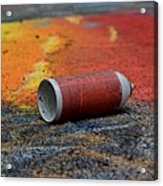 Discarded Spray Paint Can Acrylic Print