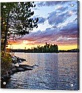 Dramatic Sunset At Lake Acrylic Print