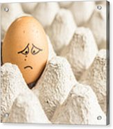 Eggs Have Feelings Too Acrylic Print