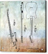 Fender Guitar Patent From 1951 Acrylic Print